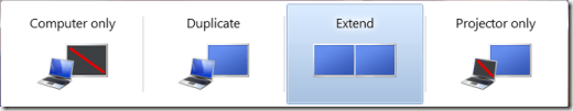 Dual monitors in Windows 7