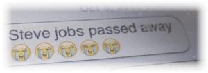 IM - Steve Jobs died
